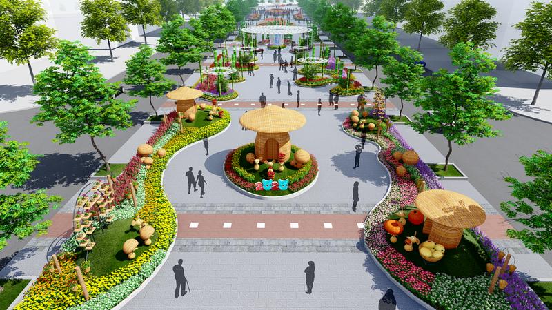 Đường hoa tết 2020: Lần đầu tiên rừng xuất hiện trên phố đi bộ - ảnh 2