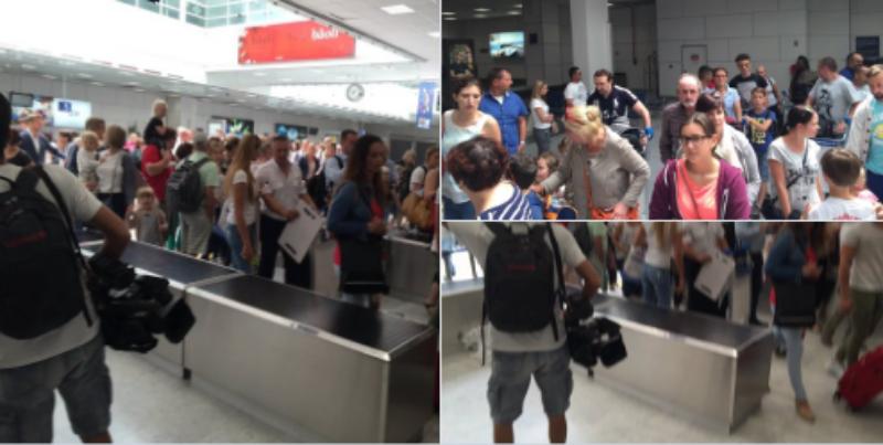 Hành khách sân bay quốc tế Côte d'Azur sơ tán khẩn cấp.