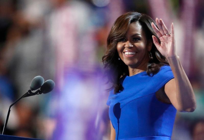 Đệ nhất phu nhân Michelle Obama phát biểu tại đêm khai mạc đại hội 25-7 ở Philadelphia.