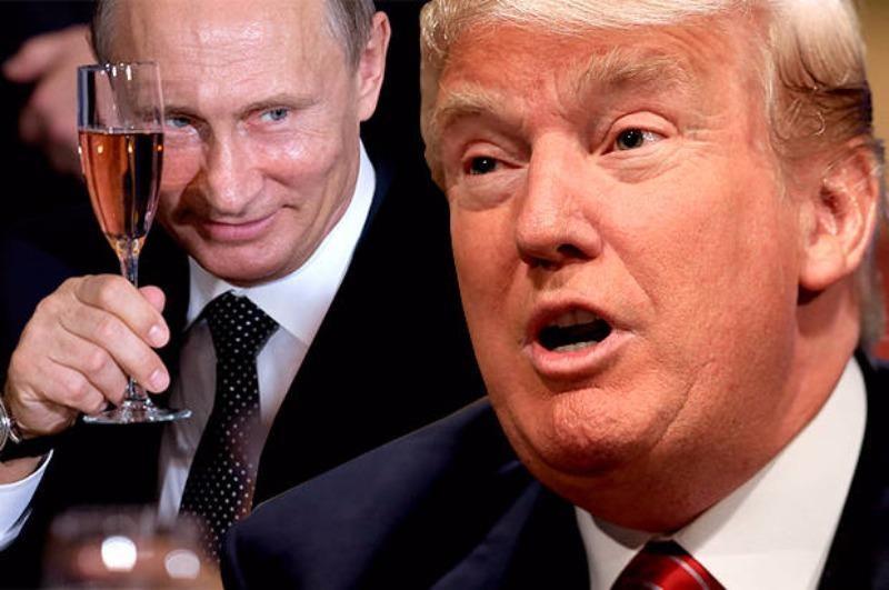 Ông Trump (phải) thành tổng thống và tổng tư lệnh quân đội Mỹ có thể có lợi cho Tổng thống Putin và Nga.