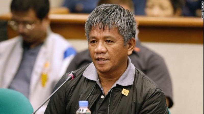 Nhân chứng Edgar Matobato từng là thành viên đội xử tử, điều trần trước Thượng viện Philippines ngày 15-9.
