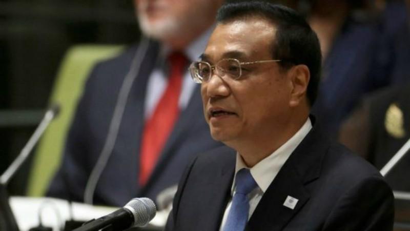 Thủ tướng Trung Quốc Lý Khắc Cường trong cuộc gặp với Tổng thống Mỹ Barack Obama ngày 19-9.