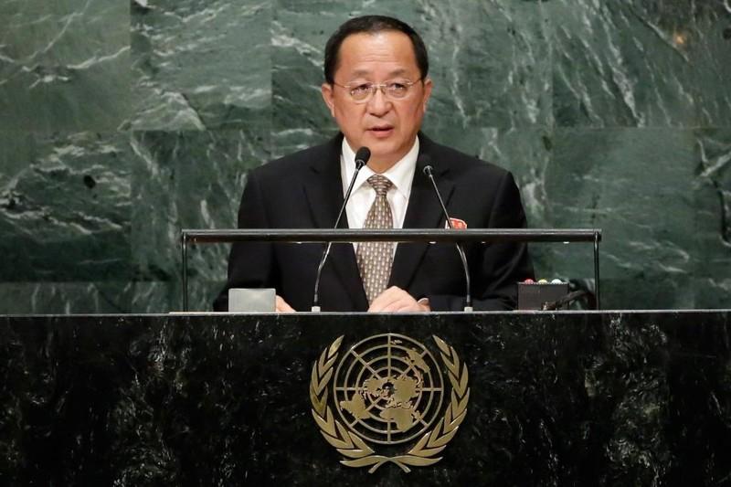 Bộ trưởng Ngoại giao Triều Tiên Ri Yong-ho đe dọa Mỹ ngay trước Đại Hội đồng LHQ ngày 23-9.
