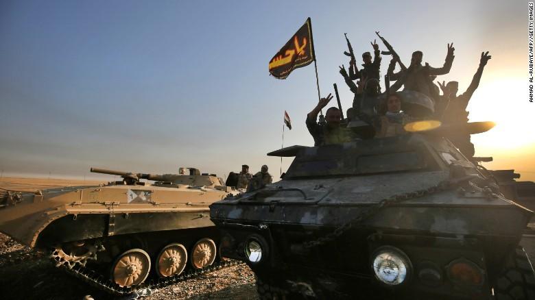 Lực lượng Iraq tiến về Mosul trong ngày 17-10.