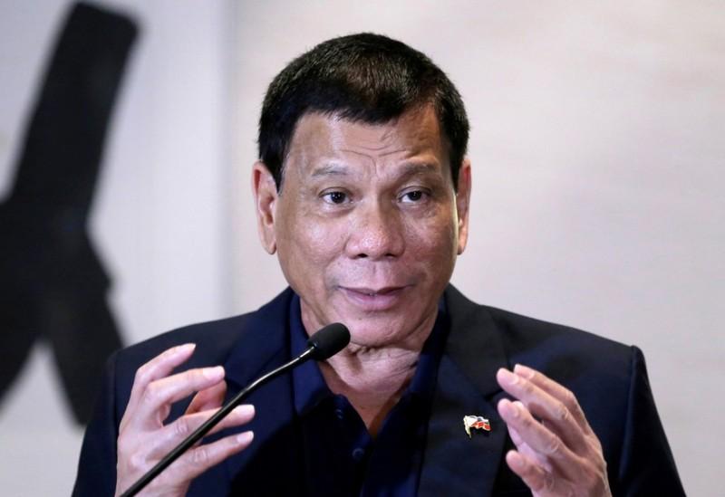 Tổng thống Philippines Rodrigo Duterte trong một cuộc họp báo tại Trung Quốc ngày 19-10.