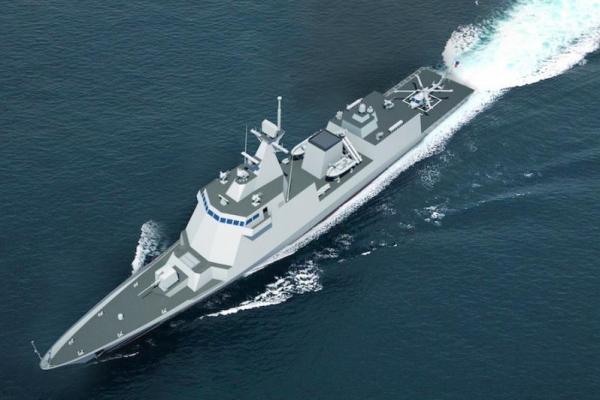 Hình ảnh mô phỏng từ máy tính tàu khu trục tập đoàn Hyundai Heavy Industries sẽ chế tạo cho Philippines.