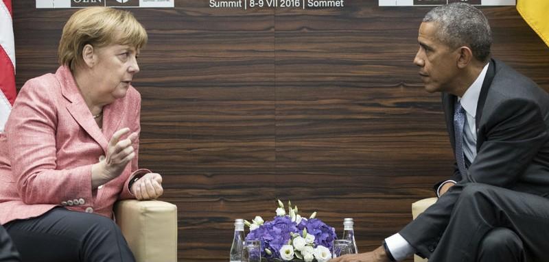 Thủ tướng Merkel và Tổng thống Obama trong một lần gặp nhau.