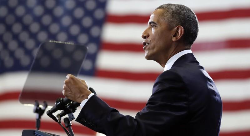 Tổng thống Obama phát biểu tại căn cứ không quân MacDill ở Tampa (Florida) ngày 6-12. Ảnh: GETTY IMAGES