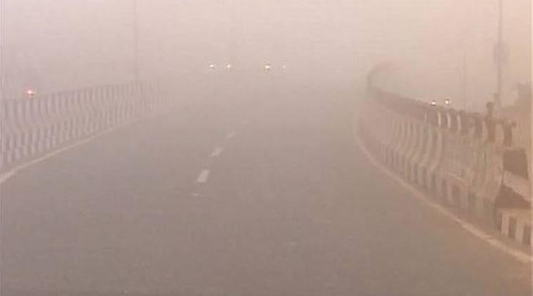 Sương mù dày đặc ở tỉnh Punjab. Ảnh: ANI