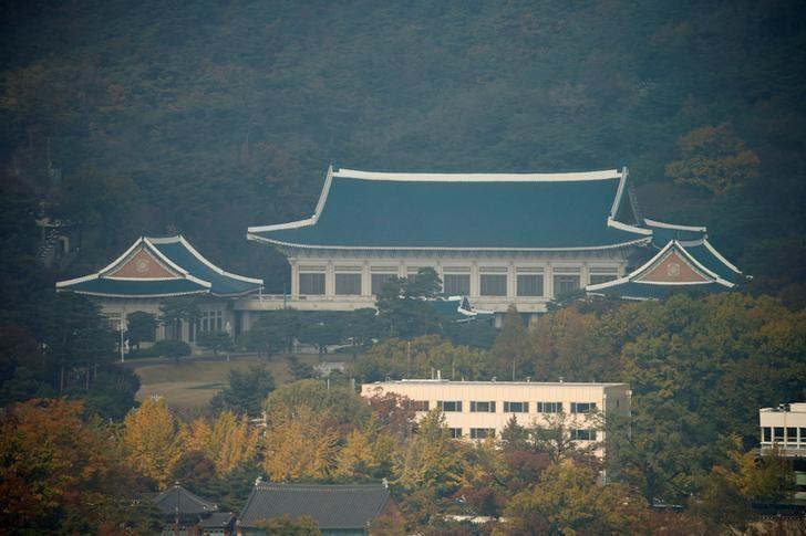 Dinh tổng thống Hàn Quốc tại Seoul (Hàn Quốc) ngày 3-11. Ảnh: REUTERS