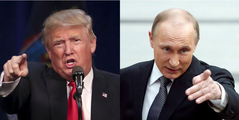 Quan chức Mỹ khẳng định Tổng thống Putin (phải) chỉ đạo tấn công bầu cử Mỹ giúp ông Trump (trái) thắng.