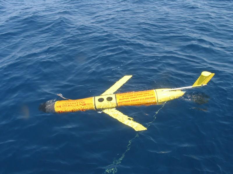 Tàu ngầm không người lái mini của Mỹ, tương tự chiếc bị Trung Quốc bắt. Ảnh: US NAVY