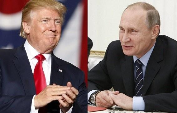 Tổng thống Nga Vladimir Putin (phải) vừa gửi thư ông Tổng thống đắc cử Mỹ Donald Trump (trái). Ảnh: INQUIRER