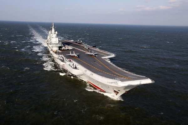 Đài Loan đang giám sát chặt tàu sân bay Liêu Ninh của Trung Quốc tập trận ở tây Thái Bình Dương. Ảnh: CHINA POST