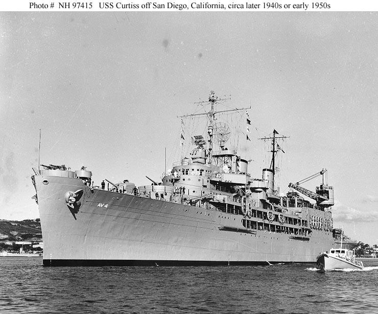 Tàu USS Curtis có thời gian sửa chữa ngắn nhất. Ảnh: IBIBLIO