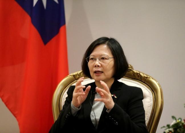 Lãnh đạo Đài Loan Thái Anh Văn trong chuyến thăm Paraguay ngày 28-6. Ảnh: REUTERS