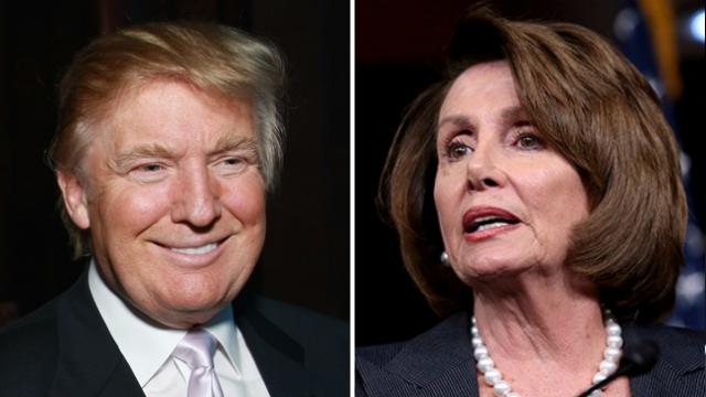 Ông Trump kêu gọi điều tra quan hệ của bà Pelosi với Nga. Ảnh: THE HILL