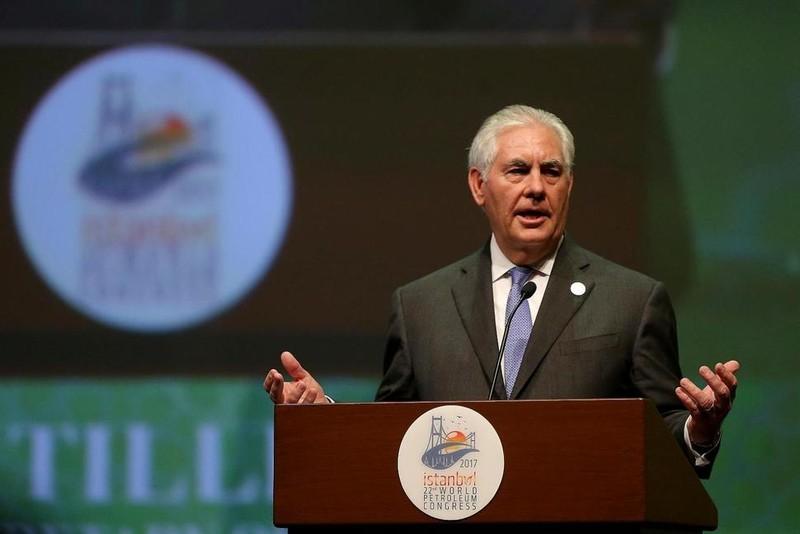 Ngoại trưởng Mỹ Rex Tillerson tại Thổ Nhĩ Kỳ ngày 9-7. Ảnh: AP