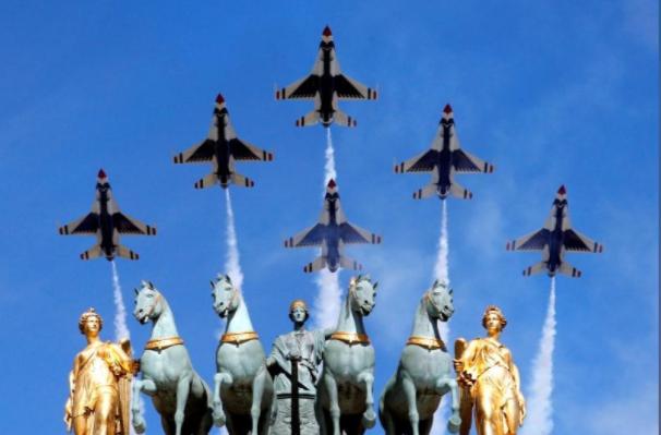 Ông Trump dự lễ diễu binh rầm rộ mừng Quốc khánh Pháp - ảnh 7