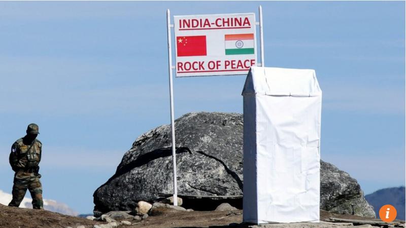 Biểu tượng hòa bình Trung-Ấn tại biên giới hai nước. Ảnh: SCMP