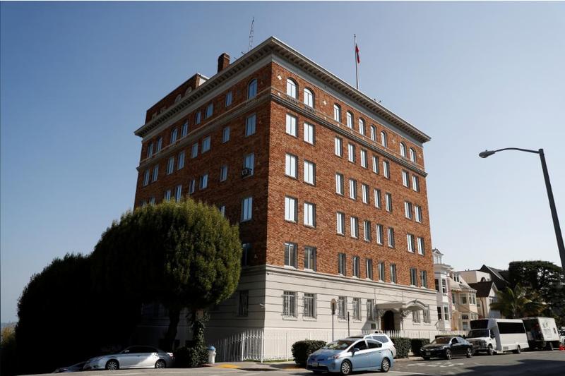 Tổng lãnh sự quán Nga tại San Francisco, California (Mỹ). Ảnh: REUTERS