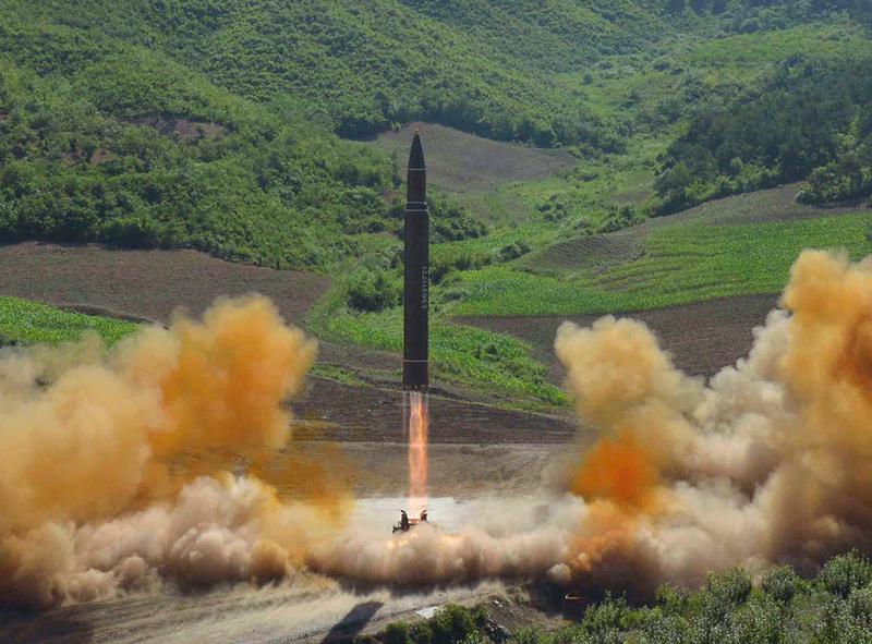 Triều Tiên thử tên lửa đạn đạo xuyên lục địa Hwasong-14 ngay trong ngày quốc khánh Mỹ 4-7. Ảnh: CSIS