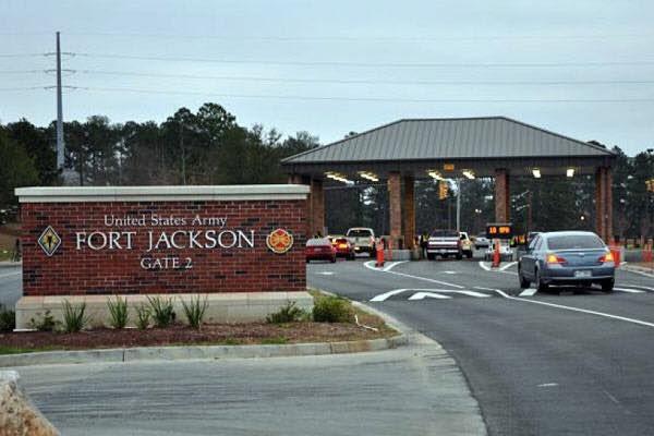 Trung tâm huấn luyện quân sự Fort Jackson, bang South Carolina (Mỹ). Ảnh AP