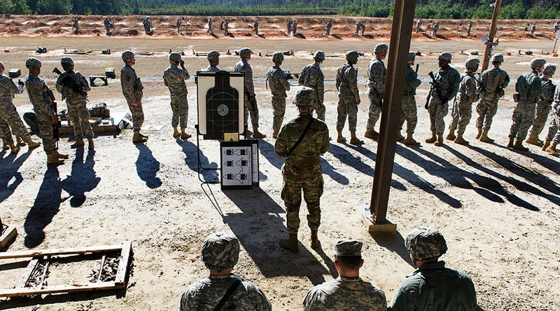 Binh sĩ Mỹ trong một đợt huấn luyện. Ảnh: DEFENSE.GOV