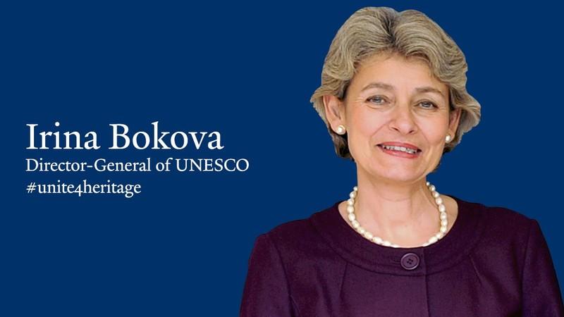 Tổng Giám đốc sắp mãn nhiệm của UNESCO Irina Bokova. Ảnh: YOUTUBE