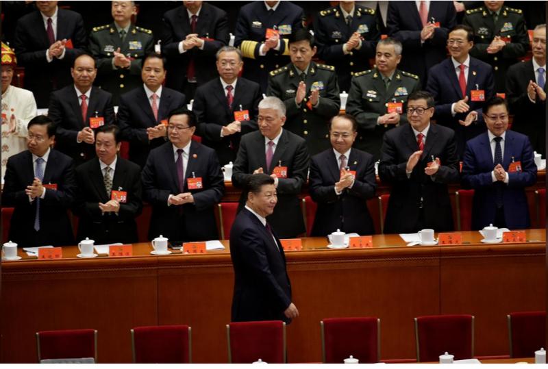 Chủ tịch Tập Cận Bình đến tham dự đại hội ngày 18-10. Ảnh: REUTERS