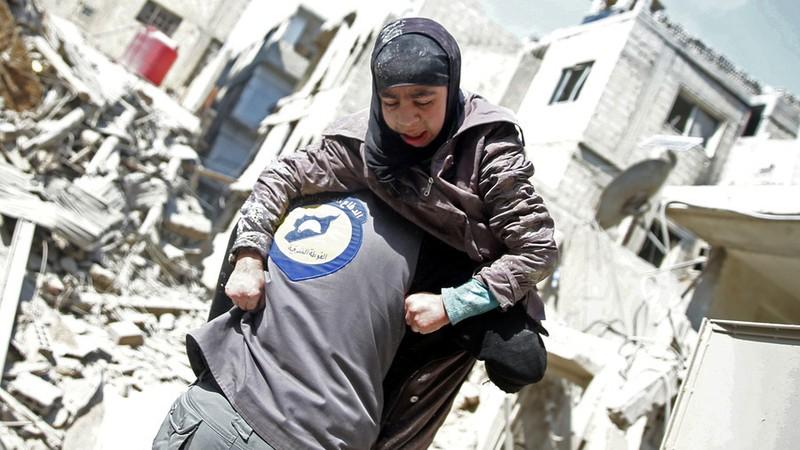 Phần lớn thương vong tại Đông Ghouta là dân thường. Ảnh: GETTY IMAGES