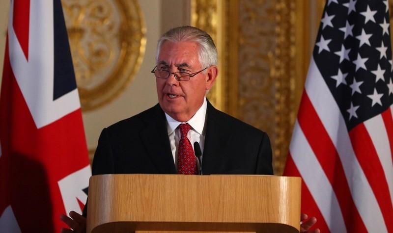 Ngoại trưởng Rex Tillerson, người vừa bị Tổng thống Mỹ Donald Trump sa thải ngày 13-3. Ảnh: AP