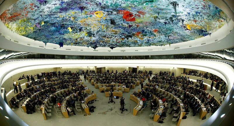 Một phiên họp của Hội đồng Nhân quyền LHQ tại Geneva (Thụy Sĩ). Ảnh: REUTERS