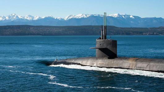 Tàu ngầm tàng hình USS Henry M. Jackson lớp Ohio trang bị tên lửa đạn đạo. Ảnh: US NAVY