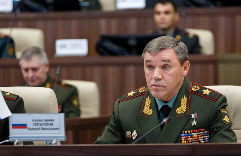 Tổng Tham mưu quân đội, Thứ trưởng Quốc phòng thứ nhất của Nga Valery Gerasimov. Ảnh: SIPOL