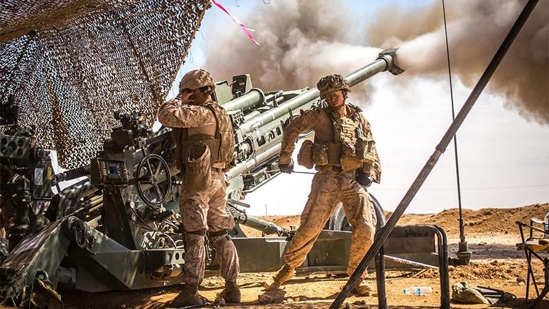 Liên quân Mỹ-Anh-Pháp nã 103 quả tên lửa Tomahawk vào Syria sáng sớm 14-4. Ảnh: US ARMY