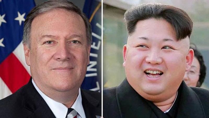 Ông Mike Pompeo vừa sang Triều Tiên gặp ông Kim Jong-un. Ảnh: DUNIA