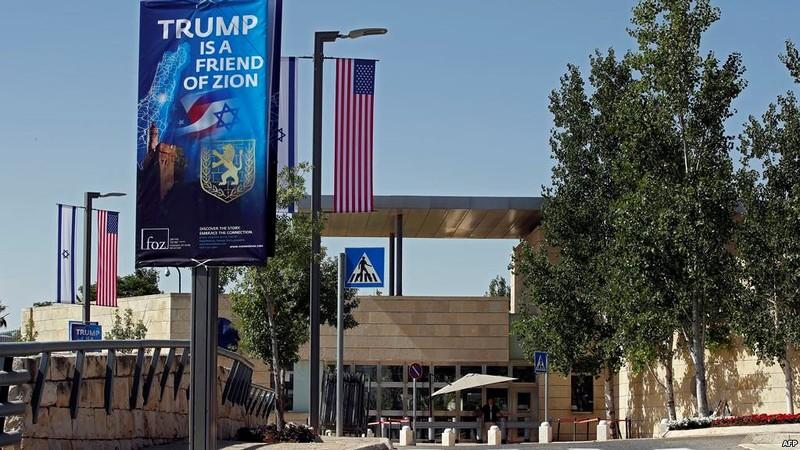 Mỹ khánh thành đại sứ quán ở Jerusalem chiều 14-5. Ảnh: AFP