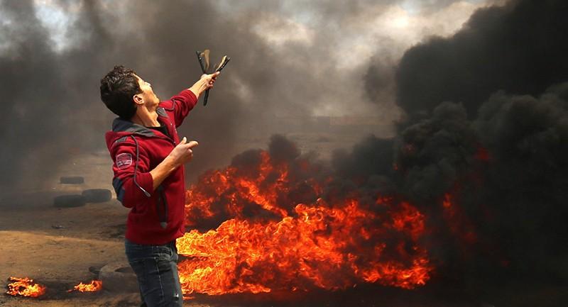 58 người Palestine chết, hơn 2.700 người bị thương trong cuộc biểu tình phản đối Israel và Mỹ tại biên giới Dải Gaza-Israel ngày 14-5. Ảnh: AFP