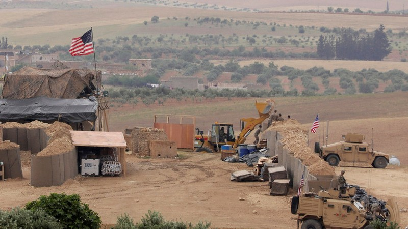 Căn cứ Mỹ ở Manbij. Ảnh: REUTERS