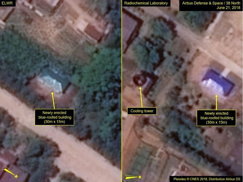 Căn nhà nhỏ mái xanh mới được xây tại khu thí nghiệm hóa học phóng xạ. Ảnh: 38 NORTH