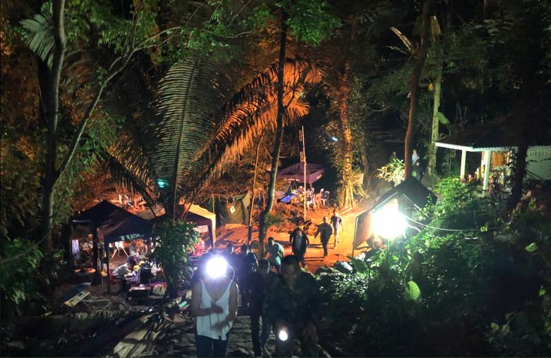 Hình ảnh khu vực hang động Tham Luang ông Elon Musk đưa lên TWITER sáng nay.