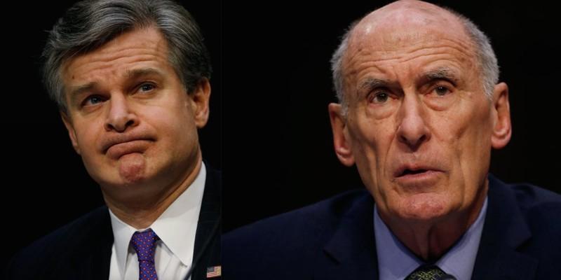 Giám đốc FBI Christopher Wray và Giám đốc Tình báo quốc gia Mỹ Dan Coats có ý định từ chức sau thượng đỉnh Trump-Putin. Ảnh: Reuters