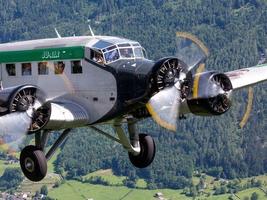 Một chiếc Junkers JU-52 HB-HOT của hãng Ju-Air. Ảnh: AP