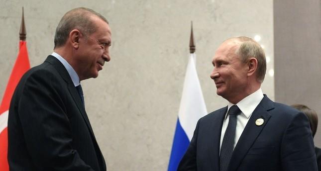 Tổng thống Thổ Nhĩ Kỳ Recep Tayyip Erdogan có cuộc điện đàm với Tổng thống Nga Vladimir Putin về kinh tế ngày 10-8. Ảnh: AFP
