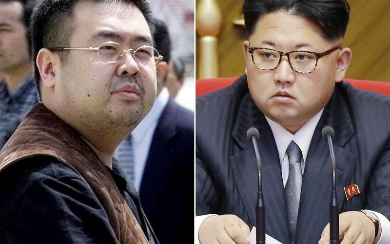 Ông Kim Jong-nam (trái) và người em cùng cha khác mẹ - lãnh đạo Triều Tiên Kim Jong-un. Ảnh: AFP