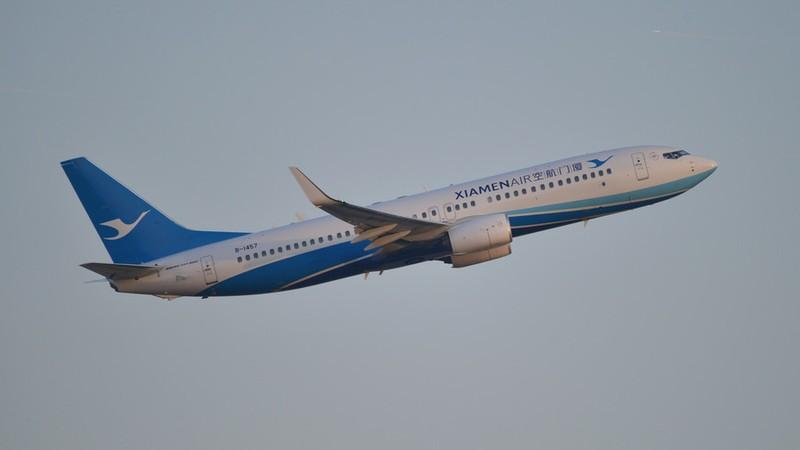 Một chiếc Boeing 737-800 của hãng XiamenAir của hãng hàng không XiamenAir. Ảnh: FLICKR