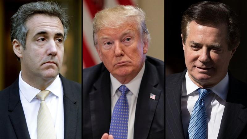 Đang có ý kiến về khả năng ông Trump sẽ bị luận tội, sau diễn biến cựu luật sư Michael Cohen nhận tội và cựu chủ tịch tranh cử Paul Manafort bị tuyên có tội. Ảnh: CNN