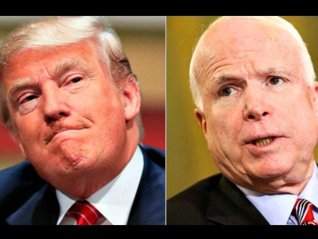 Nghị sĩ McCain không muốn ông Trump đến viếng đám tang mình. Ảnh: GETTY IMAGES