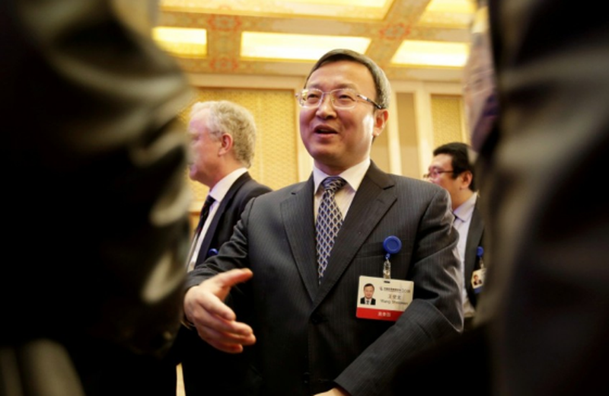 Phó Thủ tướng Trung Quốc Lưu Hạc trong cuộc đối thoại thương mại cuối tháng 8 ở Mỹ. Ảnh: SCMP